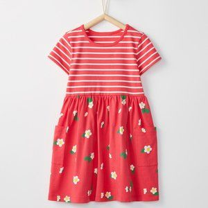 Hanna Andersson Red Floral Mixie Playdress 6/7